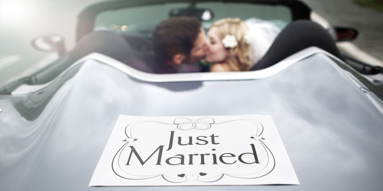 st.john's wedding day car